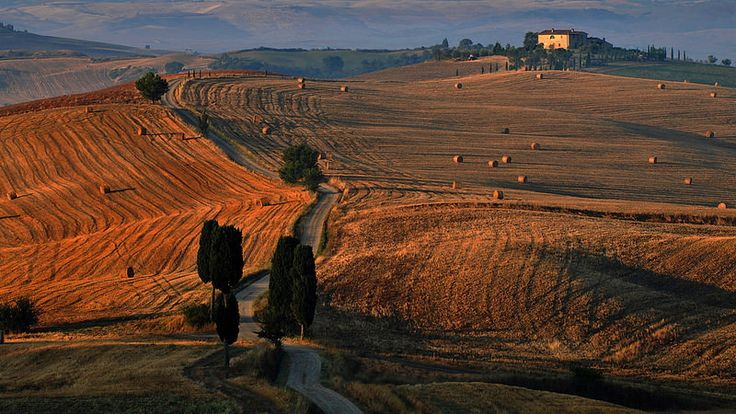 Pienza The Road Of The Gladiator Here Was Taken The