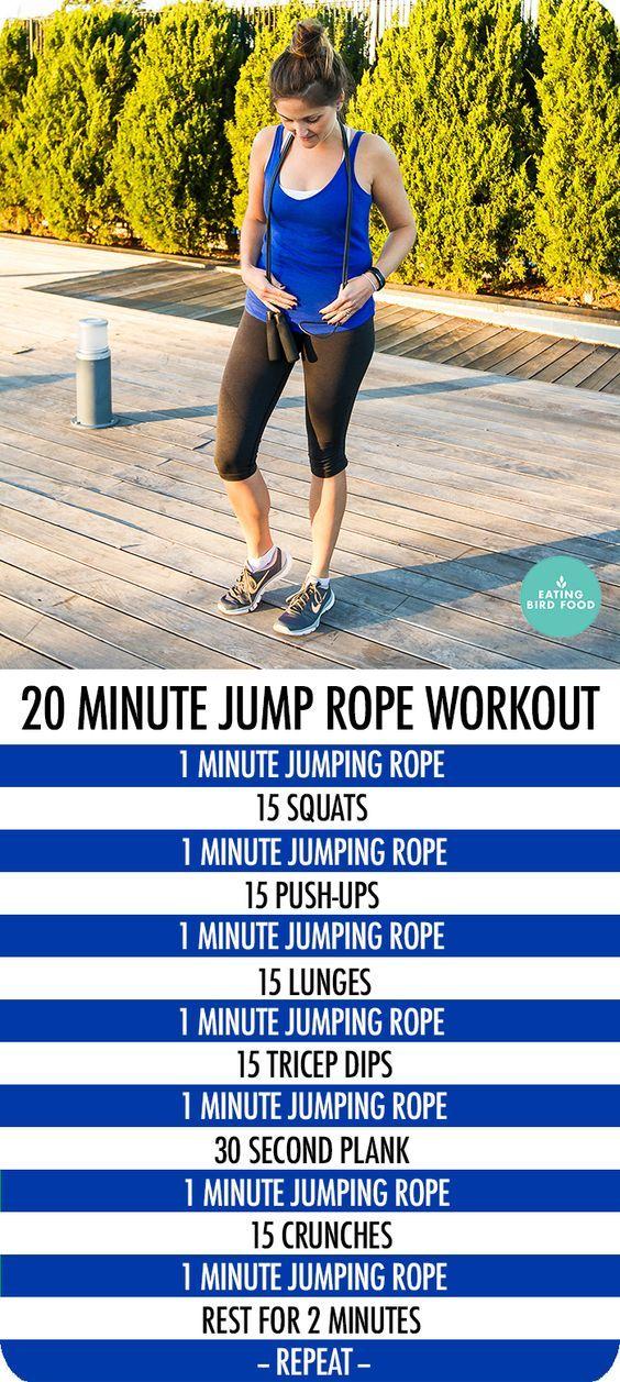 défi WORKOUT autour de la corde à sauter