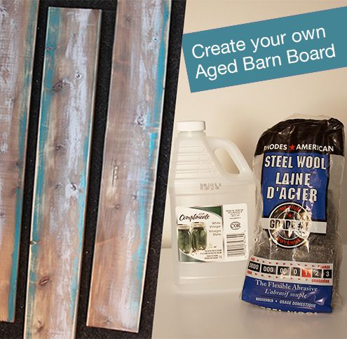 How to create your own, easy, weathered barn board, from new wood boards.