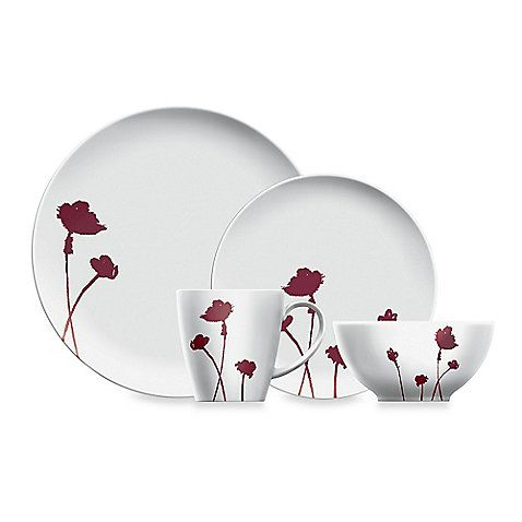 Dansk Lotta Jansdotter Stilla Raspberry Dinnerware Collection | Exclusively at Bed Bath u0026 Beyond  sc 1 st  Pinterest : custom plastic dinnerware - pezcame.com