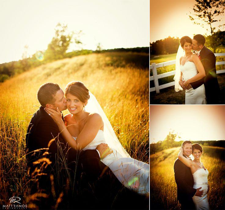 Bride and groom sunset golf course wedding   © Matt Ramos Photography