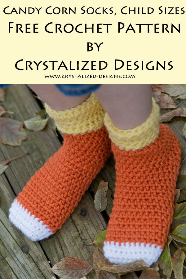 Candy Corn Socks Child Sizes Free Crochet Pattern …