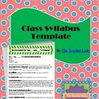 Don't know where to start in creating your class syllabus?  This attractive template will help you make your class syllabus clear and professional ...