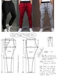 Resultado de imagen para moldes de pantalones de jogging de hombre