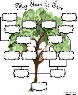 Free Family Tree TemplateAn Interactive Family Tree Template You Can Complete in Your Browser  This free family tree chart is great for anyone who hates having to fill in charts by hand. Just type in the blanks from your computer, and then save or print.1 of 3Previous Next
