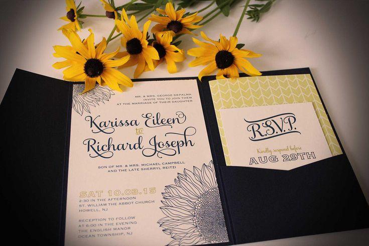 Sunflower Wedding Invitations Vistaprint - Invitations Templates