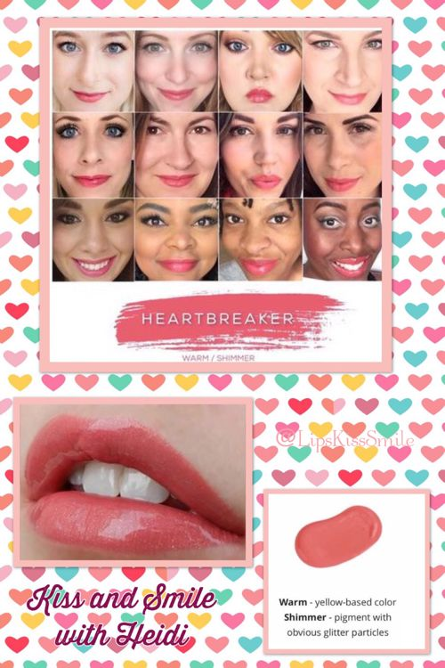 #HeartBreaker #LipSense #SeneGence #Kissproof.  Have questions or want to order?  Please email me-Heidi@LipsKissSmile.com  Visit my website: www.senegence.com/LipsKissSmile.  Join Facebook Group: Kiss and Smile with Heidi   Join FB Page: @LipsKissSmile   Lipsense the lipstick that lasts 4-18 hours! Smudge Proof, Water Proof, Kiss Proof, Gluten Free and Vegan friendly. Made in the USA . LipSense Independent Distributor #363928