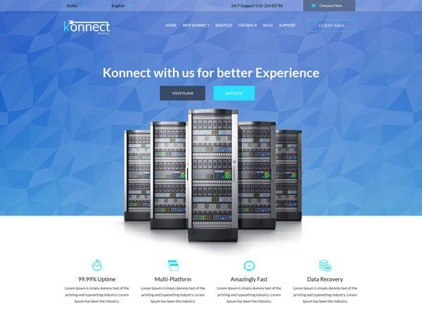 10 Free Hosting HTML Website Templates