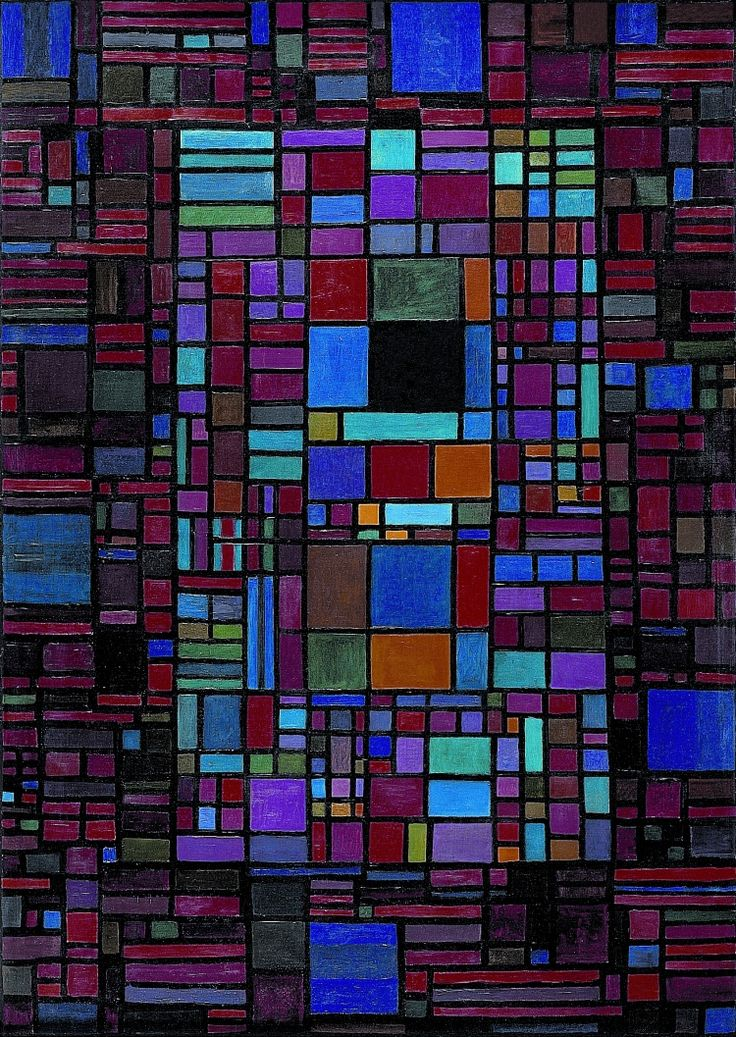 Johannes Itten (Swiss: 1888 -1967), Concerto Grosso,1959. Oil on canvas, 140 x 100 cm.