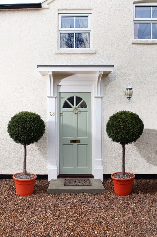 Front Door Painted In Sandtex 10 Year Exterior Satin In Bay Tree House Ideas Pinterest