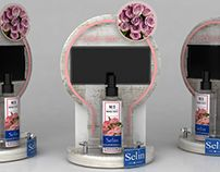 Eczacıbaşı Selin counter top pdv display stand design