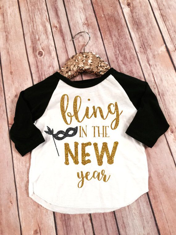 Bling in the New Year New Years Shirt 2016 New Year by SnowSew
