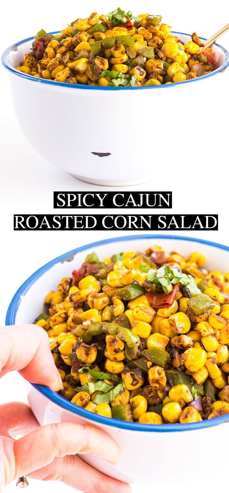 Spicy Cajun Roasted Corn Salad - Posh Journal  Spicy Cajun Roasted Corn Salad: Southwestern-style side dish/salad/salsa. The heat of cayenne pepper and cajun seasoning in this recipe will add an extra kick.