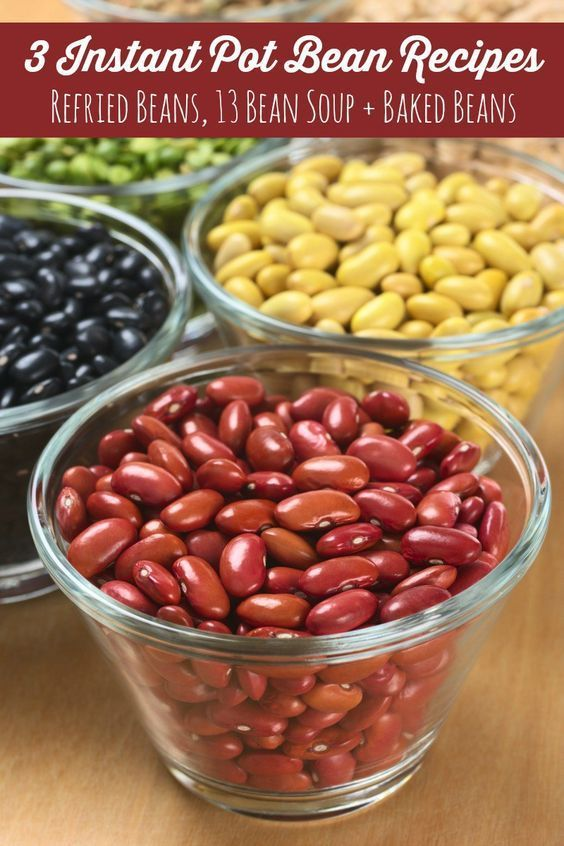 Looking for some great Instant Pot bean recipes? Give these Refried Beans, 13 Bean Soup and Baked Beans recipes a try in your Instant Pot!