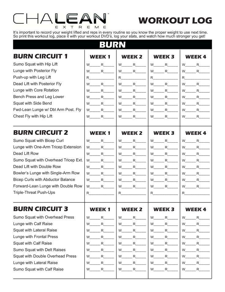 Workout Sheet Printable Weekly Workout Log Printable Workout Log ...