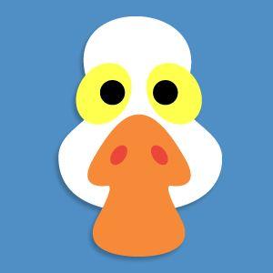 Masketeers Printable Masks: Printable Goose Mask