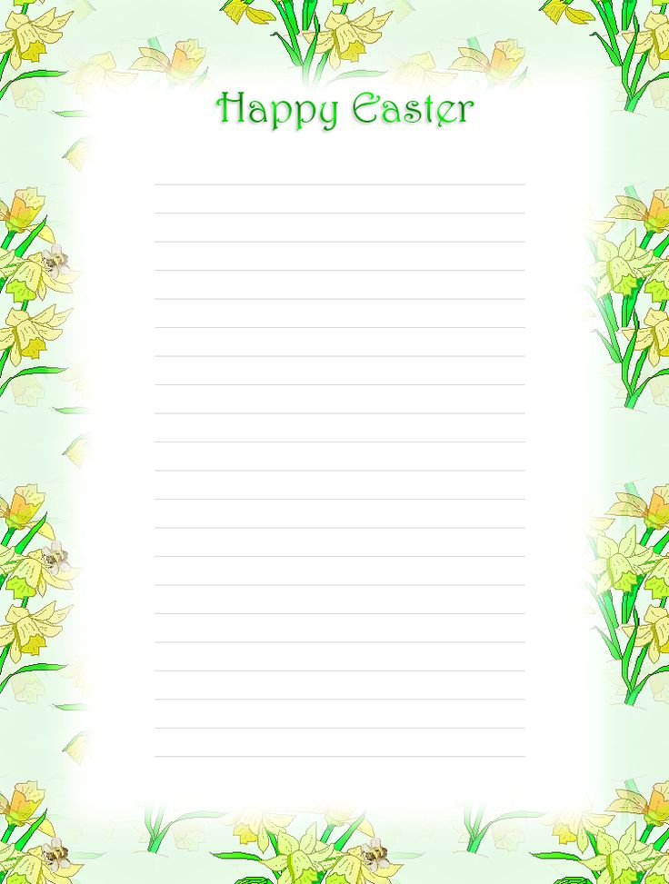 104 best Easter Stationery images on Pinterest Page borders - free lined stationery
