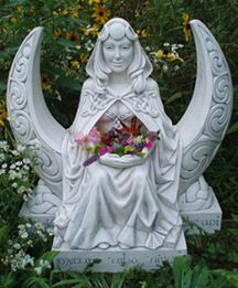 We will have this beautiful Garden Moon Goddess statue in our front garden.  The garden goddess provides a link from the earth to the sky, celebrating the Goddess as nurturer and guardian, and marking her intimate connection with the moon. The Moon Goddess embodies feminine wisdom.