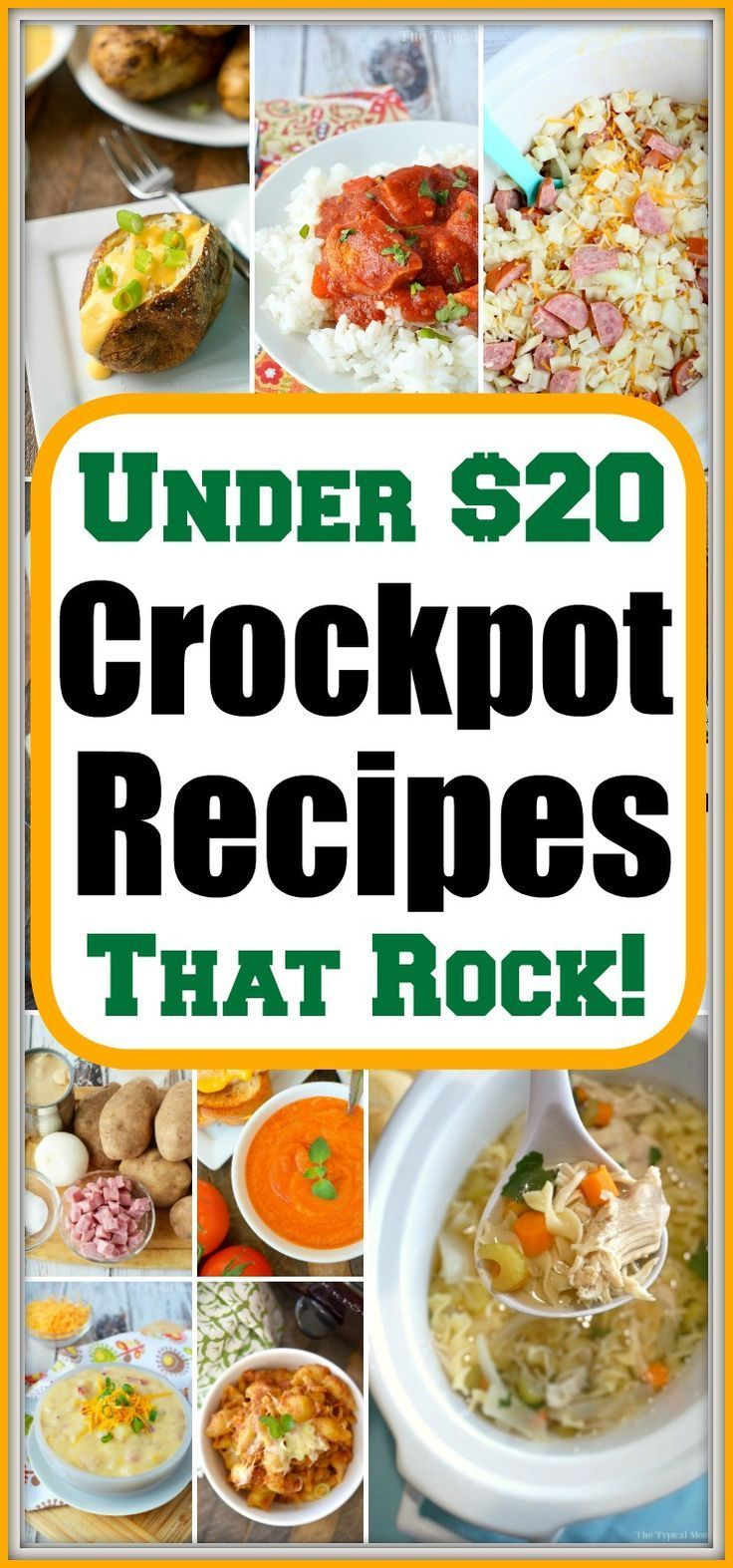 Easy Cheap Crockpot Meals Under 20 Bucks Easy Crockpot Dinners Crockpot Recipes Crockpot Dinner