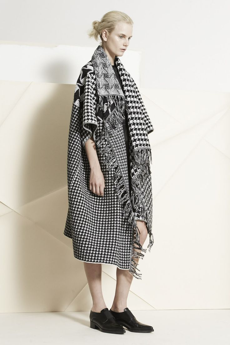 Stella McCartney - Pre-Fall 14 - Slouchy Clashing Checks and Geo Weaves