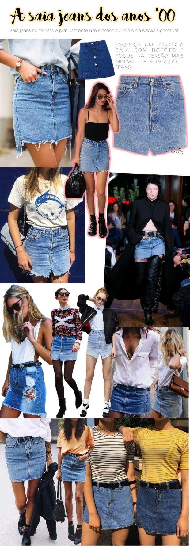 Se no último verão o foco eram as saias seventies com botões, para o próximo verão já antecipo (na realidade, torço) a volta da sainha dos anos 00! Você usava?