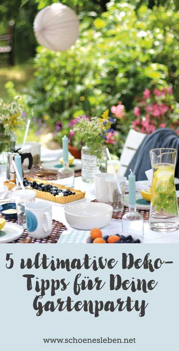 Hallo unter dem Kirschbaum: 5 ultimative Dekorationstipps für Ihre Gartenparty