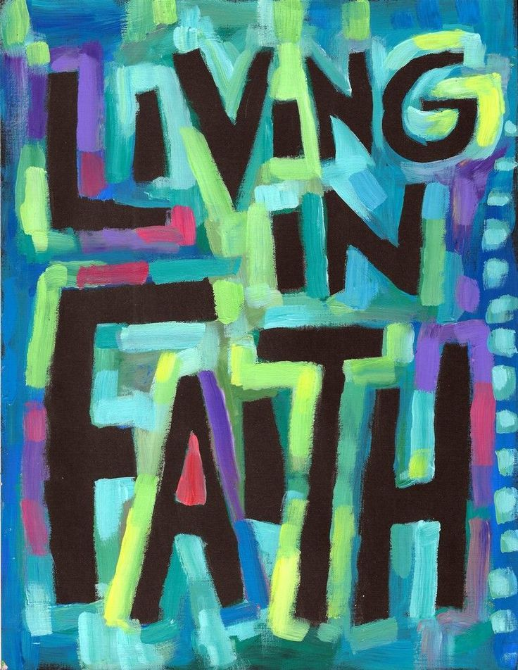 Living in FAITH - Christian, Spiritual Poster