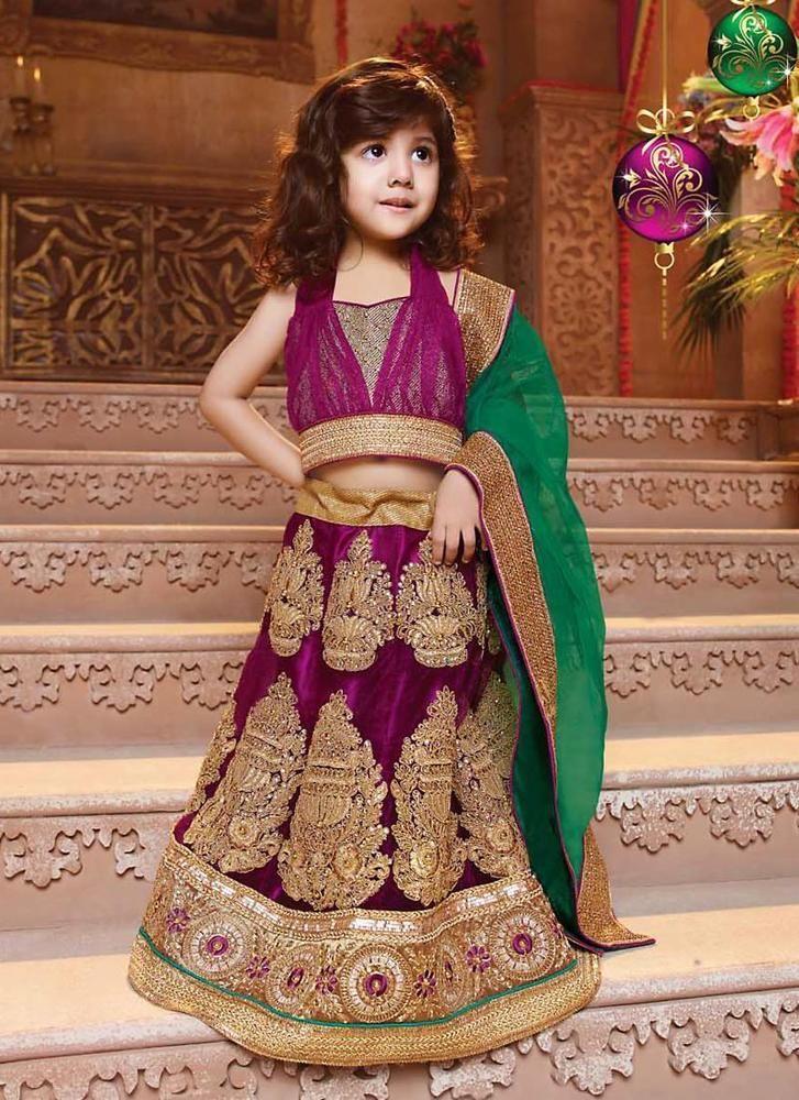 Indian Girls New Lehenga Choli Wedding Bollywood Pakistani Kids Ethnic Designer #KriyaCreation #CicularALineLehenga