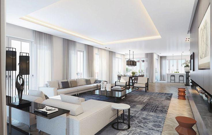 Contemporary Interior Design | #luxury Berlin #penthouse | Ando Studio  Visualu2026