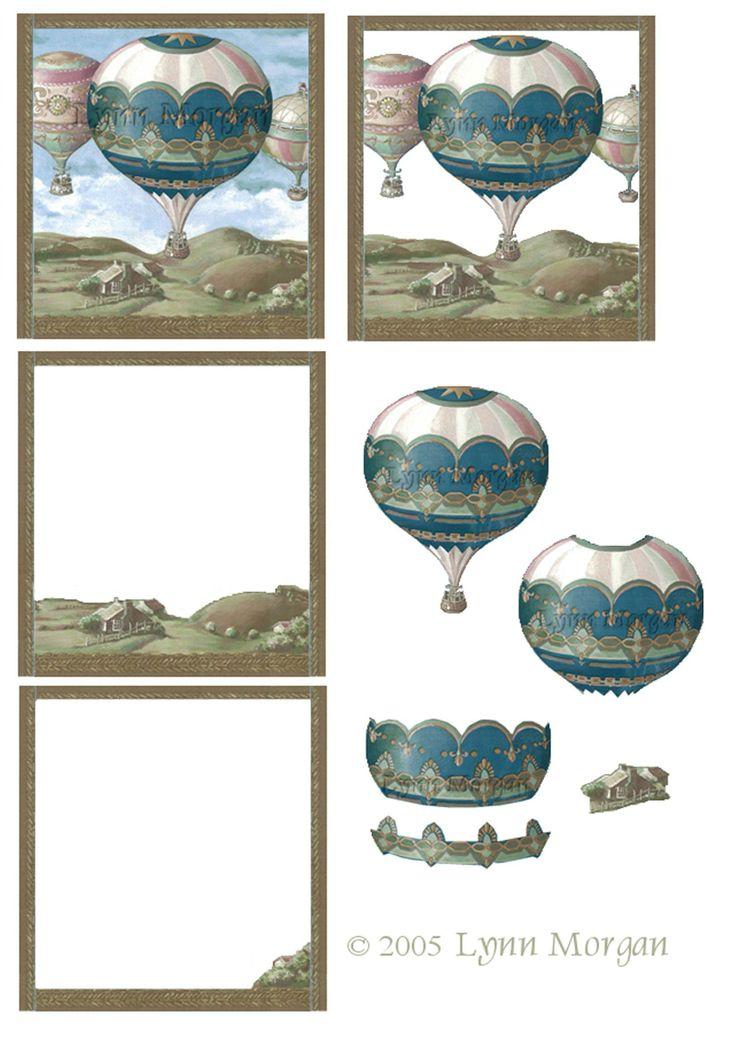 montgolfières 3d