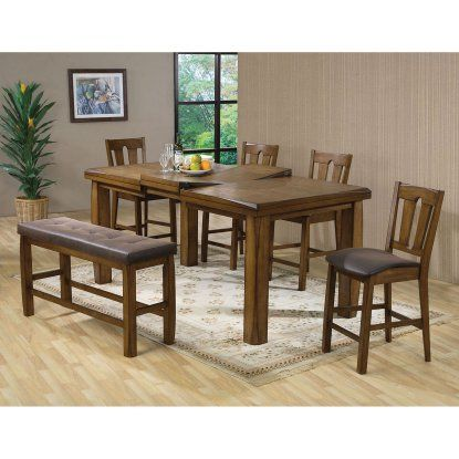 Acme Furniture Morrison 6 Piece Rectangular Counter Height Dining Table Set    Dining Table Sets At