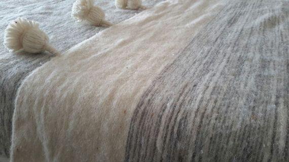118 x 78 marocchino coperte di lana tessuta a di MoroccanTribal