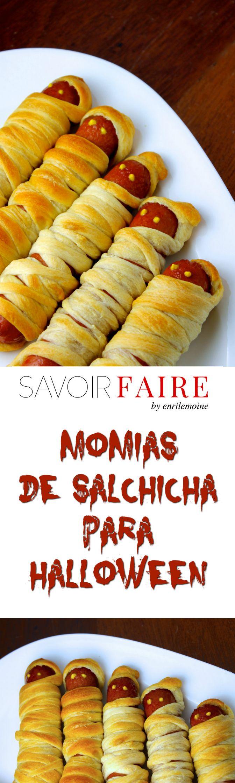 Dos ingredientes es lo que necesitas para hacer estas momias de salchicha para Halloween: masa para croissants y hotdogs. Los ojos son dos puntos de mostaza. via @enrilemoine
