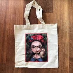 Canvas Tote | Frida & monkeys
