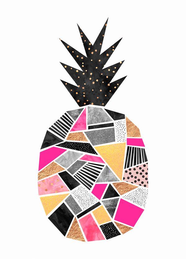 Pretty Pineapple - artwork by Elisabeth Fredriksson