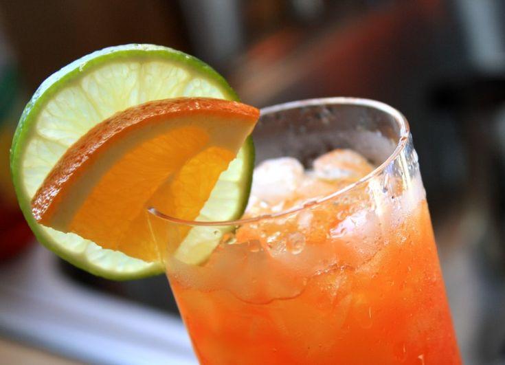 A Clockwork Tangerine - 12 oz Sprite® soda, 1 packet Kool-Aid® Tangerine mix,  1 oz Bacardi® gold rum, 1 oz Smirnoff® vodka