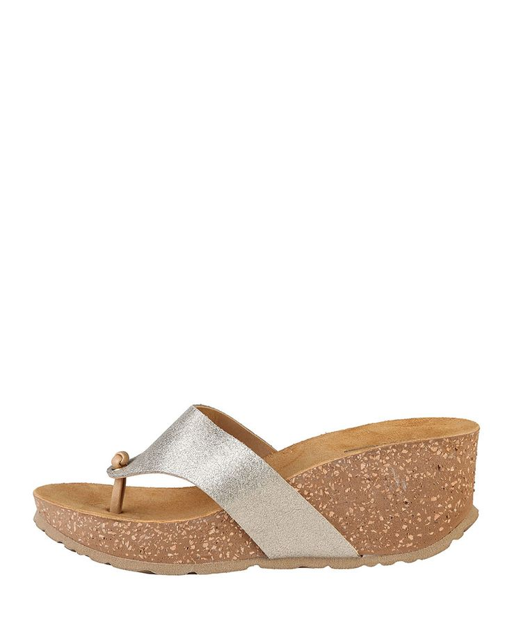 Women's shoes - s/s 2016 collection - 100% made in italy - wedge sandals and flip-flops - upper: split leather with lini - Wedge women Brown