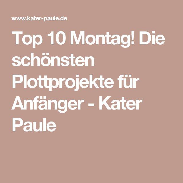 Top 10 Montag! Die schönsten Plottprojekte für Anfänger - Kater Paule