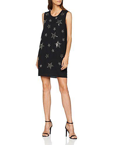 b50025053f16 Liu Jo Unit Vestito Elegante Donna (Nero Stars V9464) 42