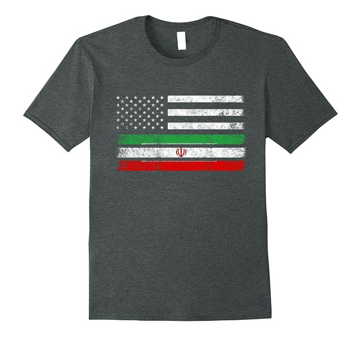 Iranian American Flag - USA Iran Shirt