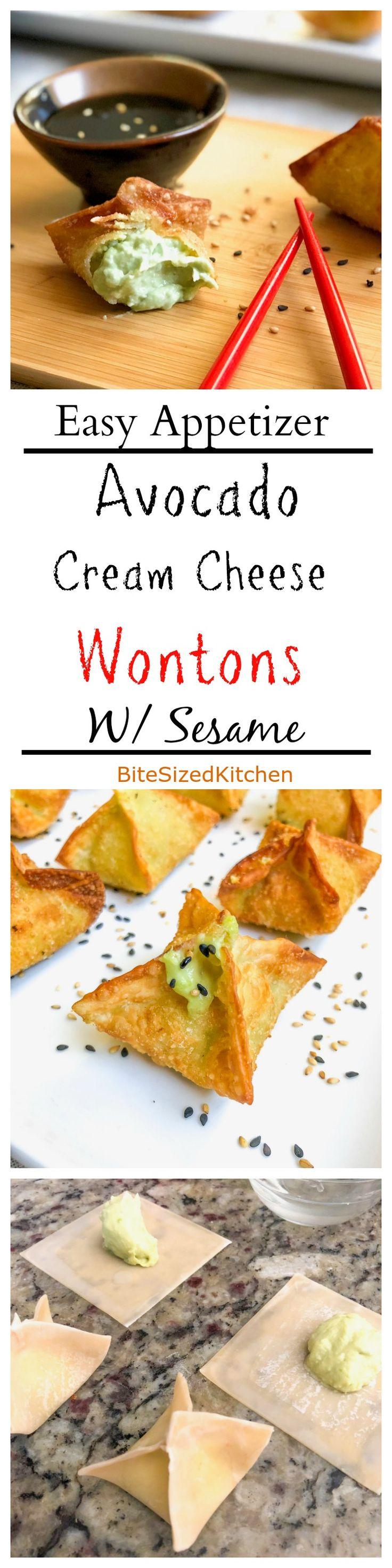Easy Avocado Sweet Cream Cheese Wontons Appetizer…Edit description