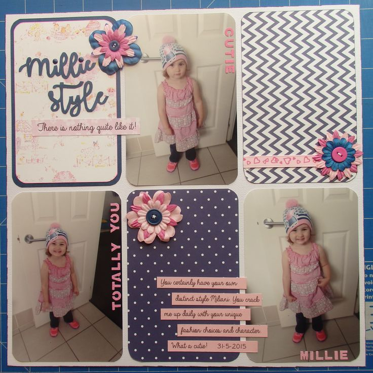 Scrapbook page by Laura: Millie style