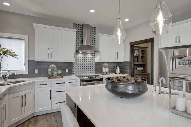 Kitchen design from our Charlesmark showhome in Canals Landing, Airdrie
