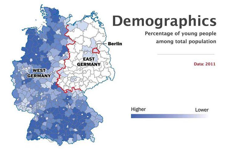 Demografía - 10 hechos que demuestran que Alemania sigue dividida - Planificamos tu viaje