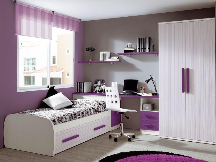 Cortinas y estores dormitorios juveniles decoraci n habitaciones juveniles pinterest kids - Cortinas de dormitorios ...