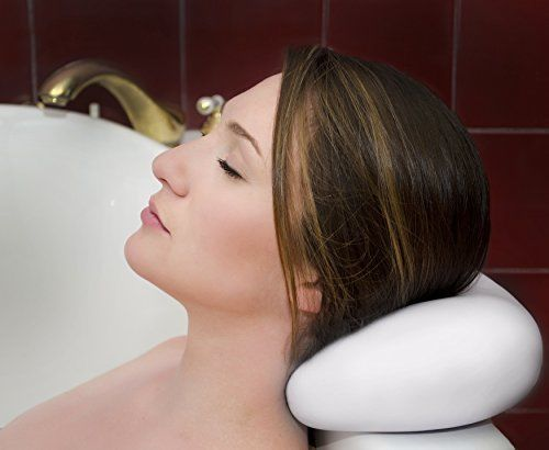 LUXURY-Bath-Pillow-With-Suction-Cups-Waterproof-Spa-Jacuzzi-Bathtub-Headrest-New