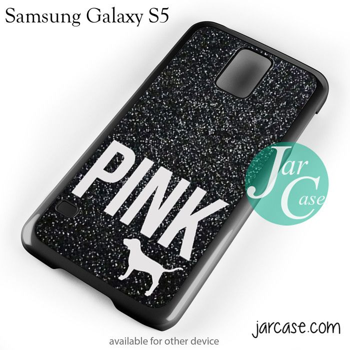Black Glitter Victoria's Secret Phone case for samsung galaxy S3/S4/S5