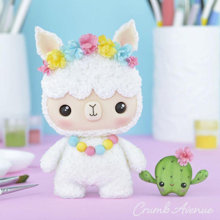 Cute llama cake topper by crumb avenue manualidades