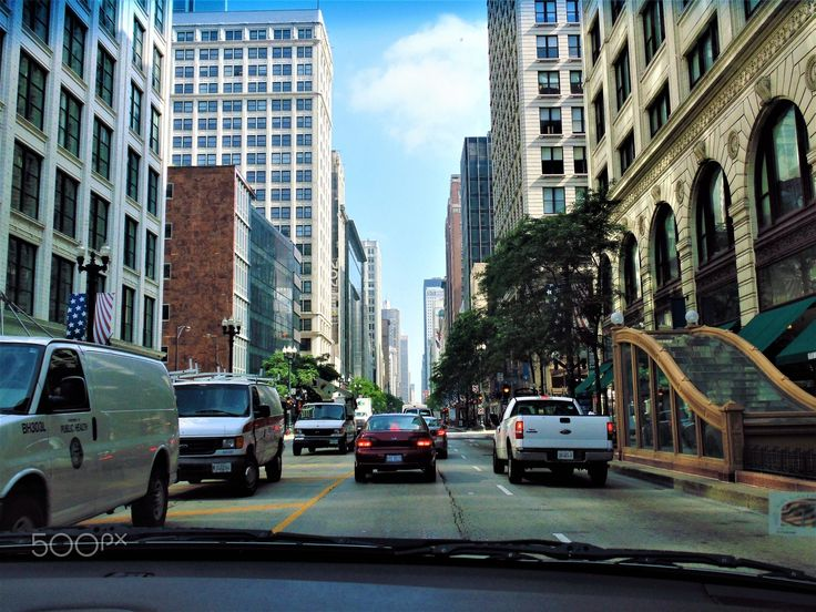 Driving through Downtown Chicago - null