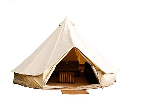 Sport Tent 3M/9.8ft Diameter Waterproof Canvas Cotton Bell Tent Family Camping Tent